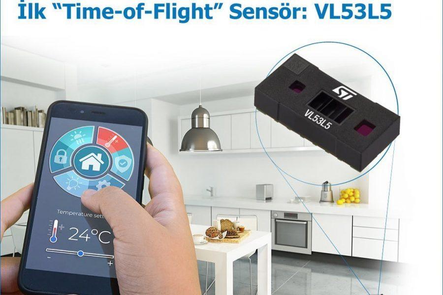 """64 Farklı Bölgeyi İzleyebilen İlk """"Time-of-Flight"""" Sensör: VL53L5"""